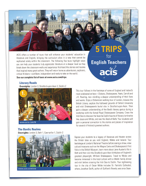 5 Trips for English Teachers