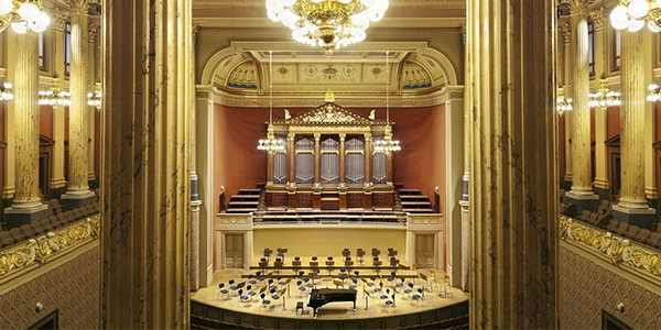 Interior of the Rudolfinum in Prague