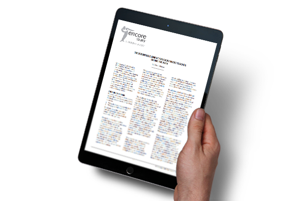 An image of a hand holding an iPad displaying the Whitepaper.